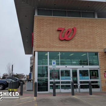 Ideal Shield's Bollard Sign Systems at Walgreens