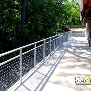 Cable Handrail Along Handicap Ramp Entry