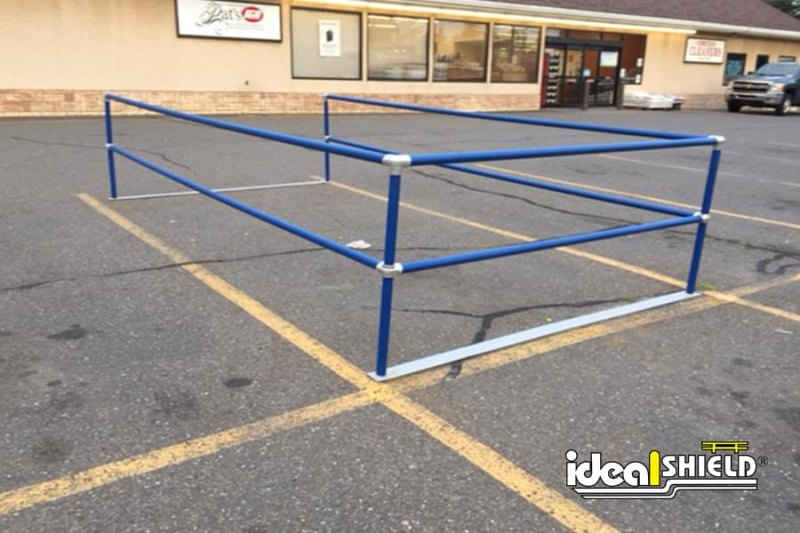 Ideal Shield's Blue Parking Lot Cart Corral