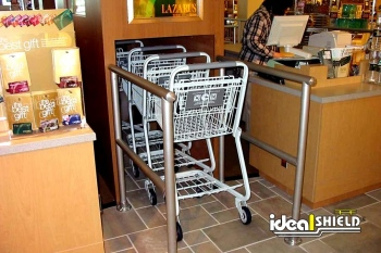 In Store Shopping Cart Corral Indoor