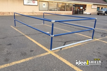 Blue Parking Lot Cart Corral