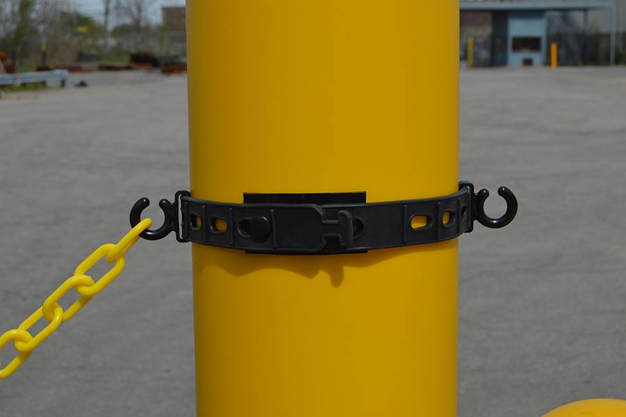 Bollard Connector kit is easily fastened to existing bollard