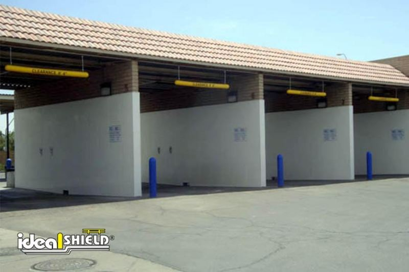 Blue Clearance Bars On Self Service Car Wash Garages