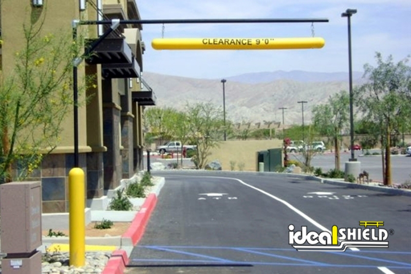 Ideal Shield's Standard Clearance Bar Apparatus used for a fast food drive thru