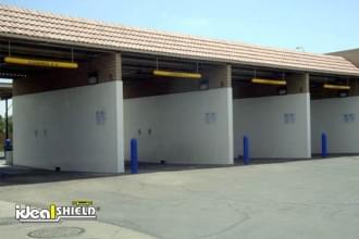 Blue Clearance Bars On Self Service Car Wash Garages
