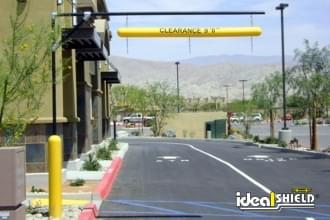 Fast Food Drive Through Overhead Clearance Bar