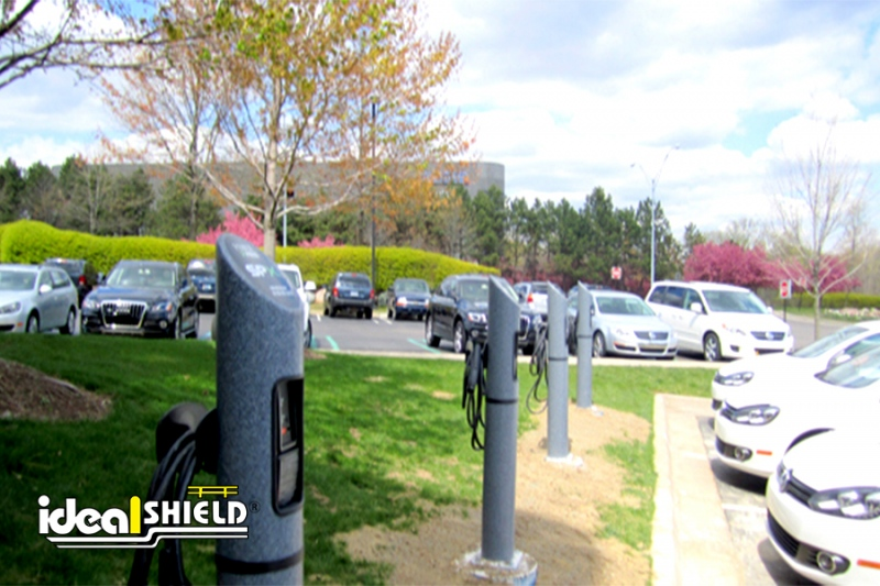 Ideal Shield's Electric Vehicle Charging Stations with Custom Brand Logos