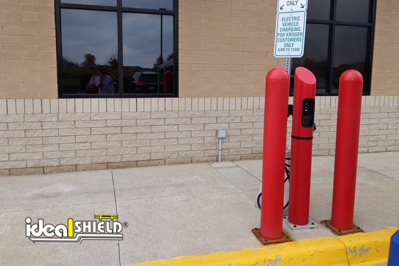 Ideal Shield's Electric Vehicle Charging Station At Kroger
