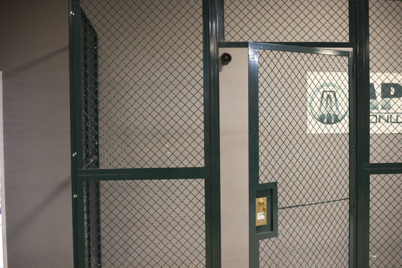 Ideal Shield's Wire Mesh Security Cribbing swinging door
