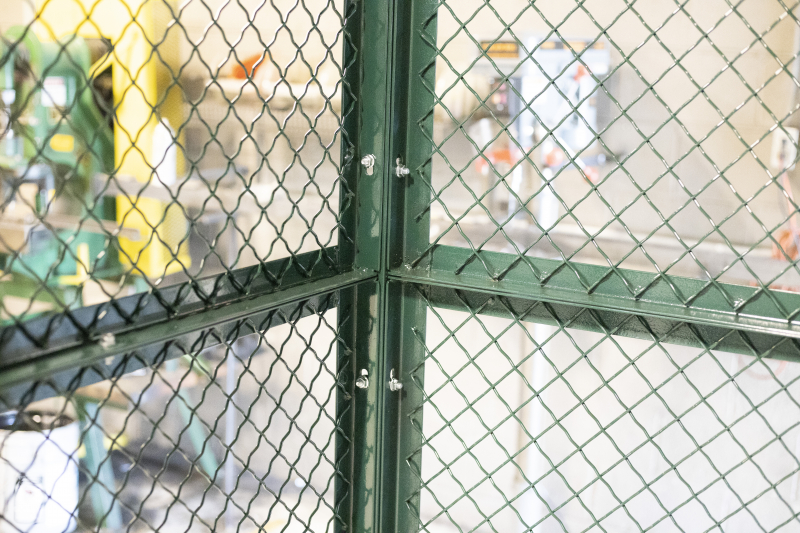 Ideal Shield's Wire Mesh Security Cribbing interior partitions