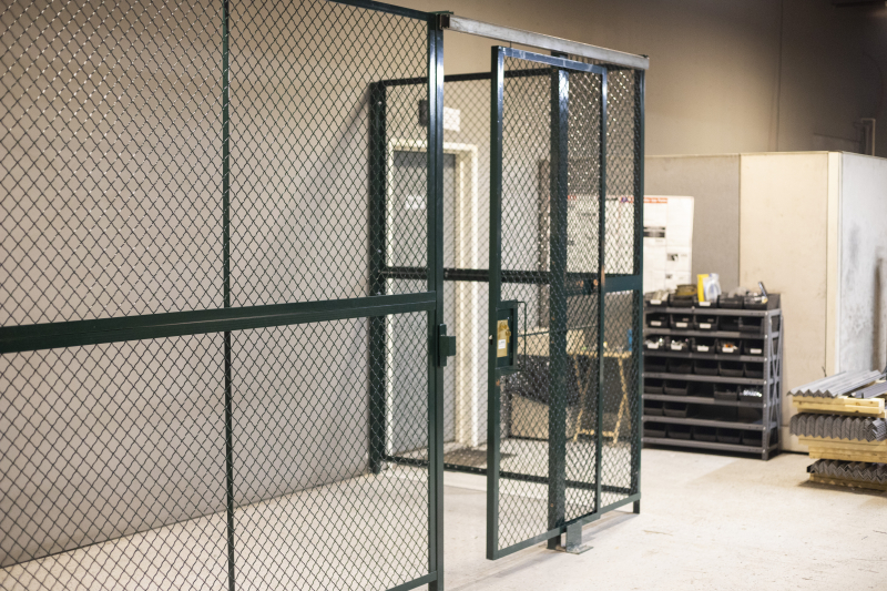 Ideal Shield's Wire Mesh Security Cribbing in Dark Green
