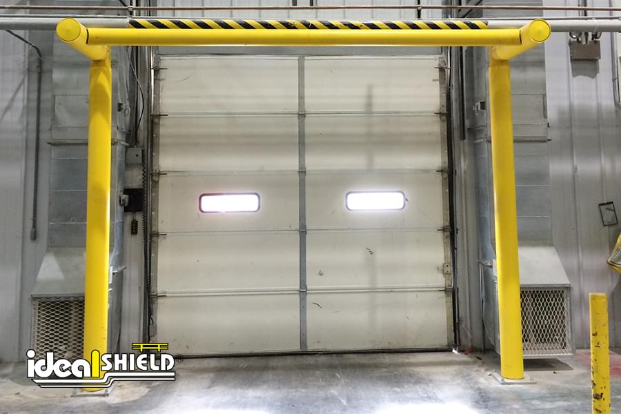 Ideal Shield's Custom Goal Post Dock Door Protection