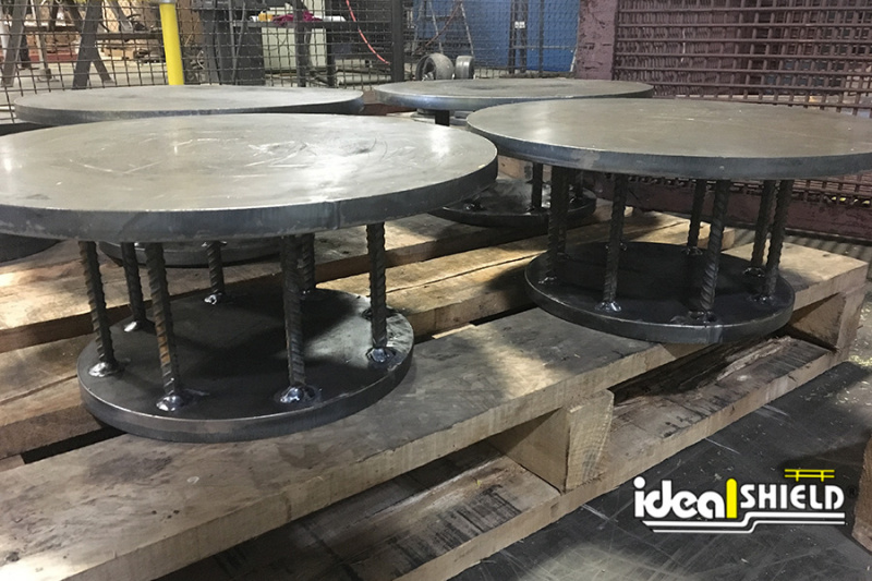 Ideal Shield's custom made Spools for core-in installation