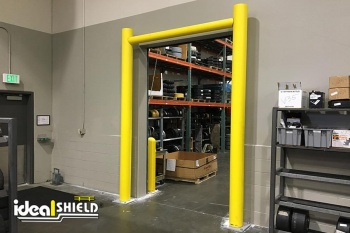 Ideal Shield's Goal Post Dock Door Protection system