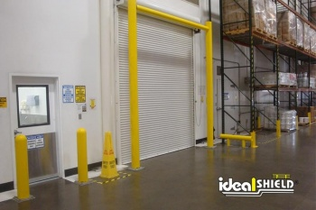 Loading Dock Door Protected With Ideal Shield Goal Post