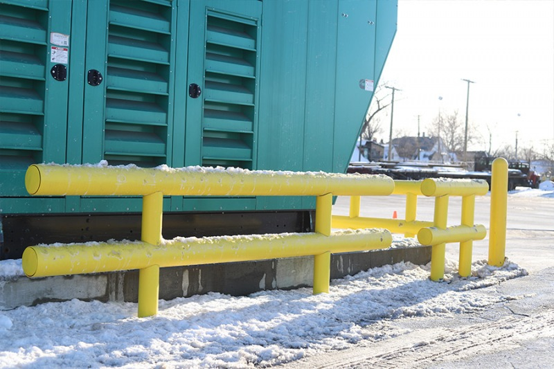 Ideal Shield's Heavy-Duty Guardrail handling the winter cold