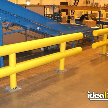 Heavy Duty Guardrail Protects Valuable Machinery