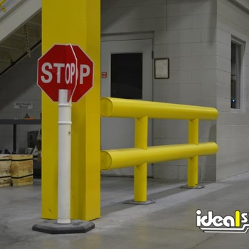 Guardrail Protecting Forklift Lane