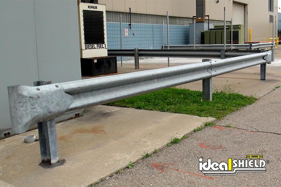 Fuel Tanks Protected By Highway Guardrail