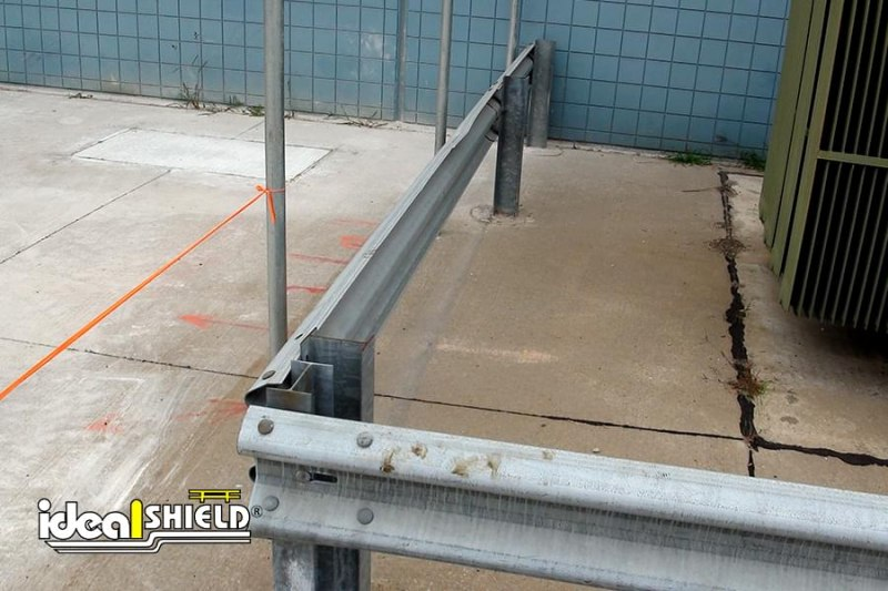 Ideal Shield's Highway Guardrail Protecting Warehouse Utilities