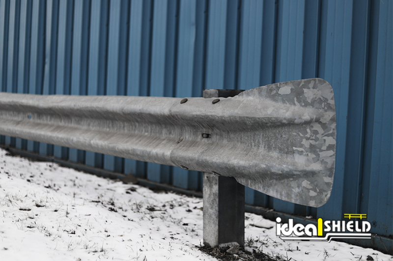 Ideal Shield's Highway Guardrail  flared end