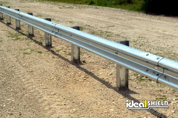 Highway Guardrail Gravel Lane Divider