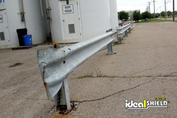Highway Guardrail Shielding Sensitive Outdoor Equipment