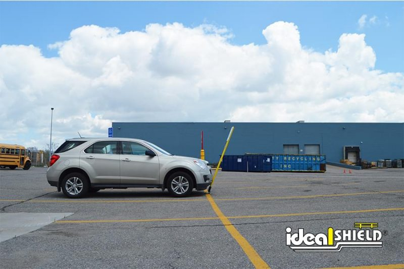 Ideal Shield Flexpost Sign Stick Flexing With Vehicle Impact