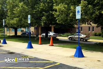 Handicap Blue Octagon Sign Bases