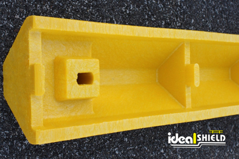Underneath view of Standard Ultra Parking Block in Yellow