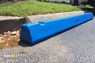 Plastic Weighted Parking Stop In Blue