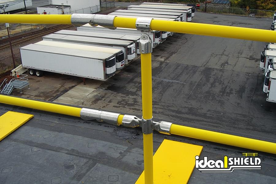 Ideal Shield's Roof Edge Protection Railing with Rust Resistant Aluminum Magnesium Fittings