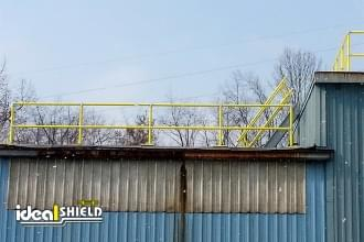 Yellow Roof Rail Fall Protection
