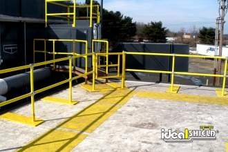 Rooftop Fall Protection Railing With Gated Entry