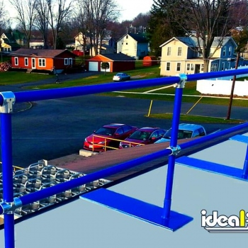 Blue Roof Rail Fall Protection
