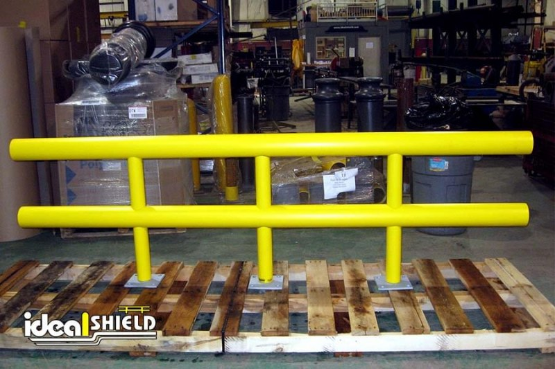 Ideal Shield's custom designed Two-Line Standard  Guardrail