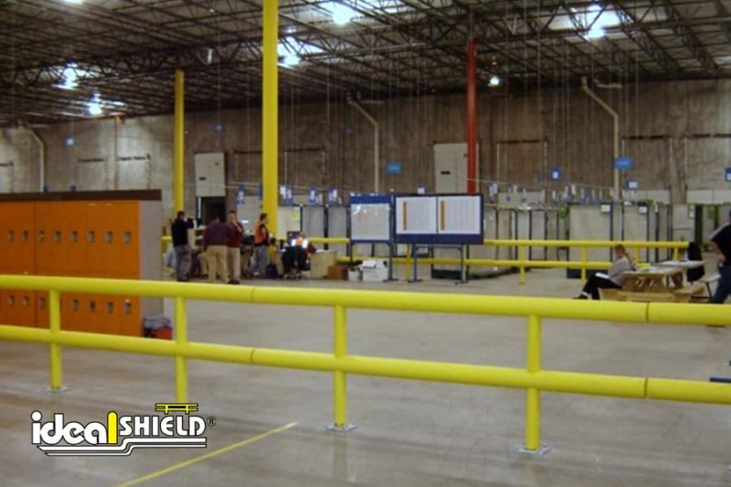 Ideal Shield's Two Line Warehouse Guardrail Creating Safe Rest Area For Warehouse Workers