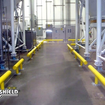 Guardrail Creating A Safe Forklift Pathway