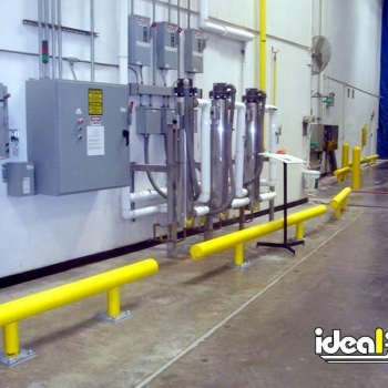 One Line Guardrail Safeguarding Warehouse Electrical Cabinets
