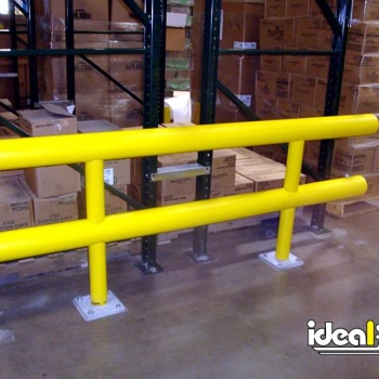 Two Line Guardrail Shielding Warehouse Pallet Racking