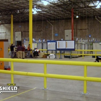 Two Line Guardrail Creating Safe Rest Area For Warehouse Workers