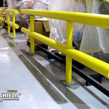 Two Line Guardrail Protecting Inventory