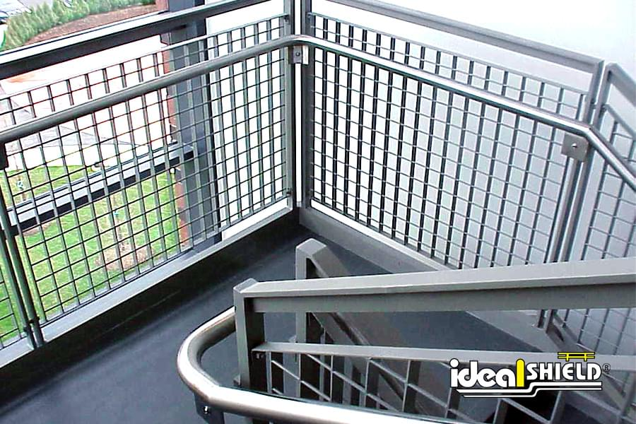 Steel Handrail On Stairwell with Grab Rail