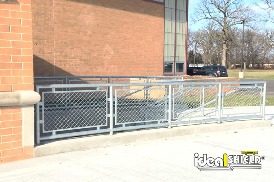 Ideal Shield's Steel Handrail with Infill at a Middle School