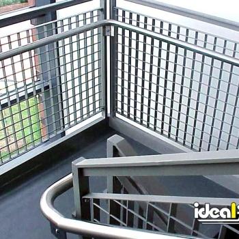 Steel Handrail On Stairwell