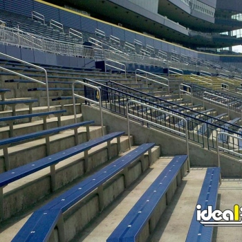 Football Stadium With Stainless Steel Handrail Assistance For Seating