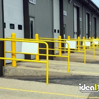 Ideal Shield's painted Steel Handrail used at dock doors