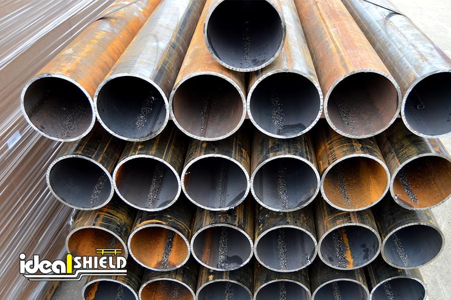 Steel pipe bollards ideal shield