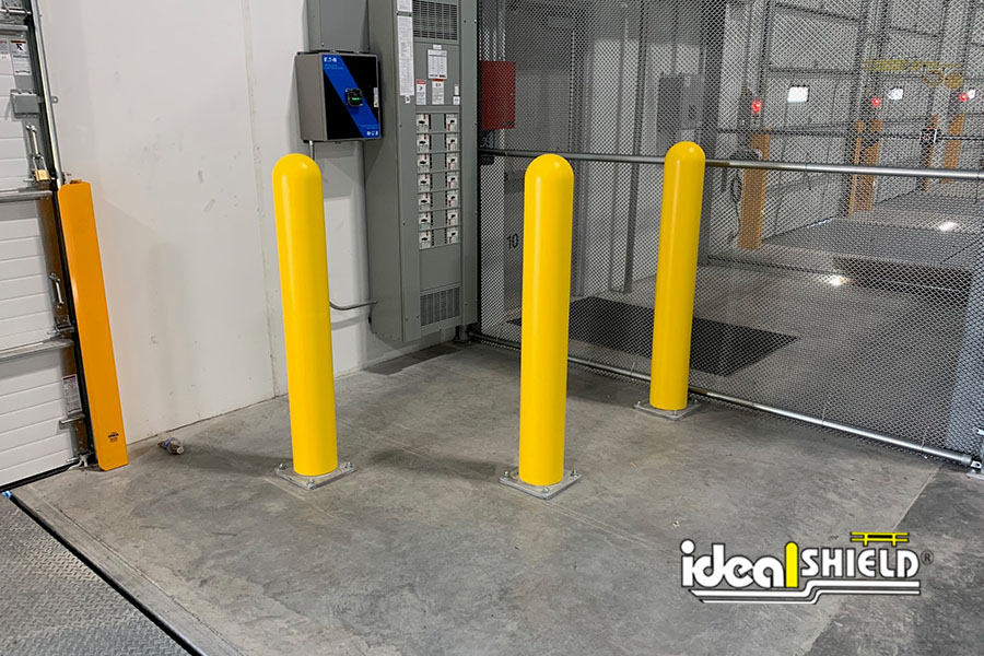 Ideal Shield's Base Plated Bollards with Bollard Covers