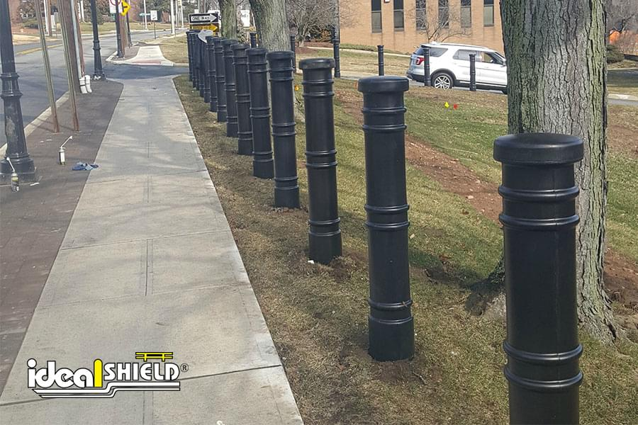 Metro Decorative Bollard Cover over Steel Pipe Bollards
